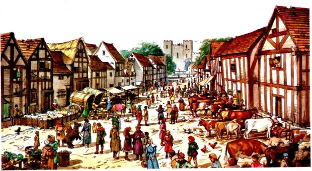 comercio europeo edad media pueblo